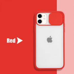 Shockproof Camera Slider Red Case